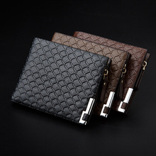 Fashion Designer Mens Coin Purse Two Type Short Zipper Card Id Holder Clutch Bag Luxury Gird Leather Men Money Clip <strong>Wallet</strong>