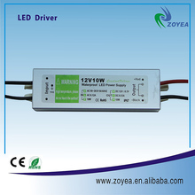 Waterproof led driver 10W constant voltage 12V power supply