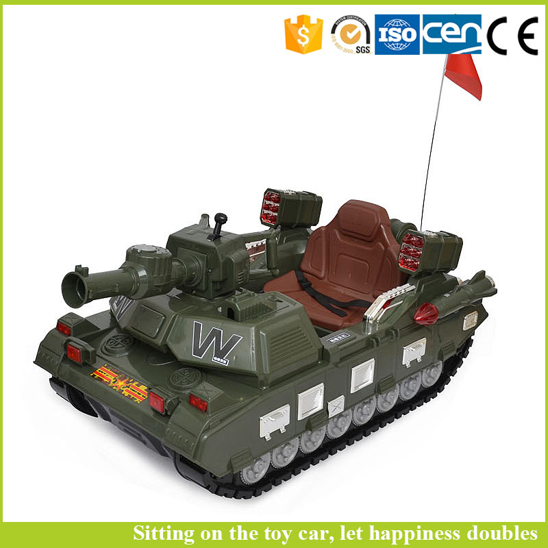 Best selling toys 2016 army green tank electric car motor toy ride on car for children