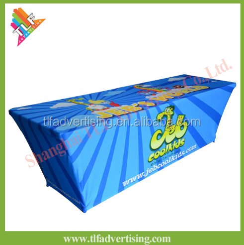 Custom Advertising Display Exhibition Table Cloth Stretch Table Cover