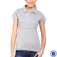 oem manufacturers women 100% cotton blank polo shirt