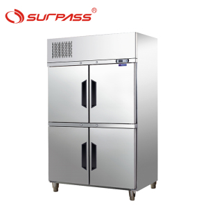 4 Doors Upright Refrigerated Cabinets for GN pans