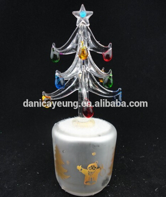 Glass christmas tree sale decorations with santa ornaments