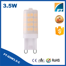Factory Direct CE RoHS ac220-240v 3.5w 4000k g9 led