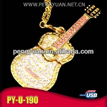 New arrival fashion luxury gift Guitar USB thumb drive