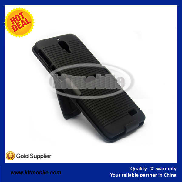 for Alcatel OT6030 holster clip case colorful PC combo hard case at factory price for wholesale