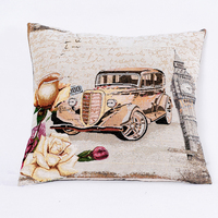 PLUS car printing decorative pillow, pillow with core