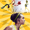 Luxury high quality earphone for sporter special shape earbud unique earphone hot sell in 2014