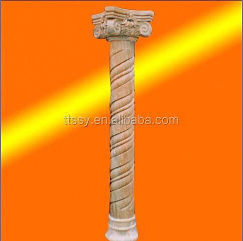 hot sale natural outdoor roman stone decorative pillars