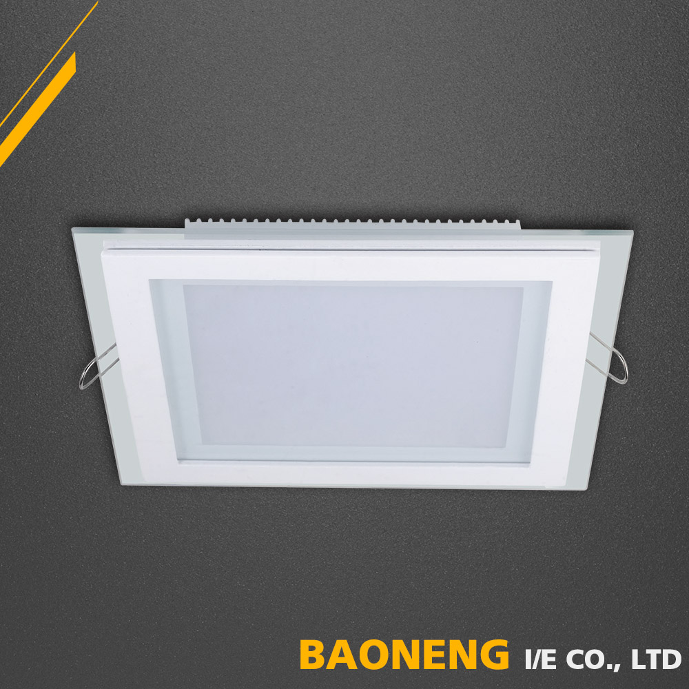 Super Bright 15W Square Ceiling Glass Led Panel Light Price