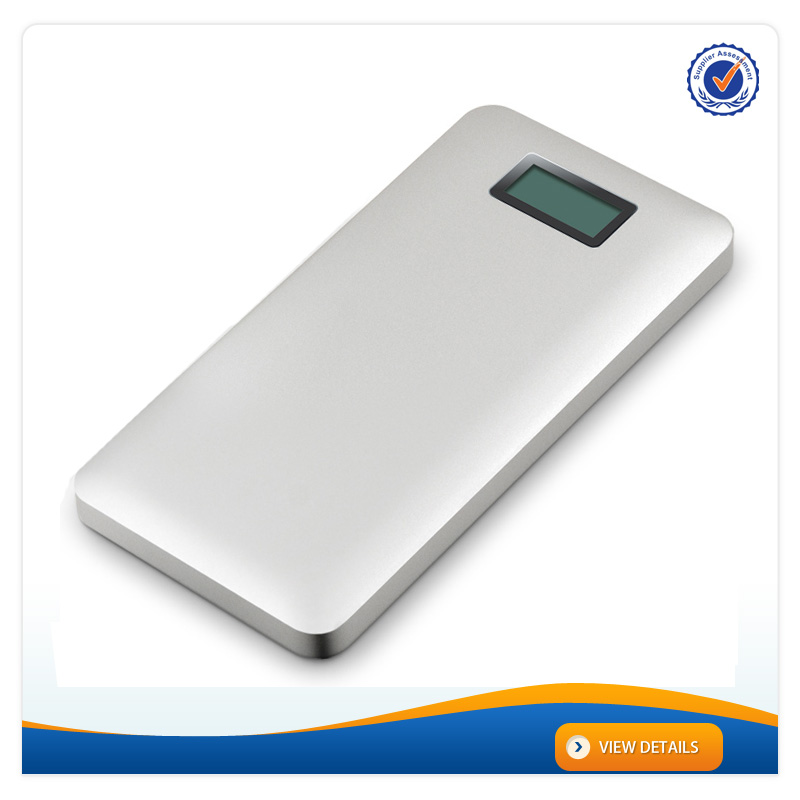 AWC238 10000mah 2015 power bank metal with LCD screen 2a charger 12000mah power bank