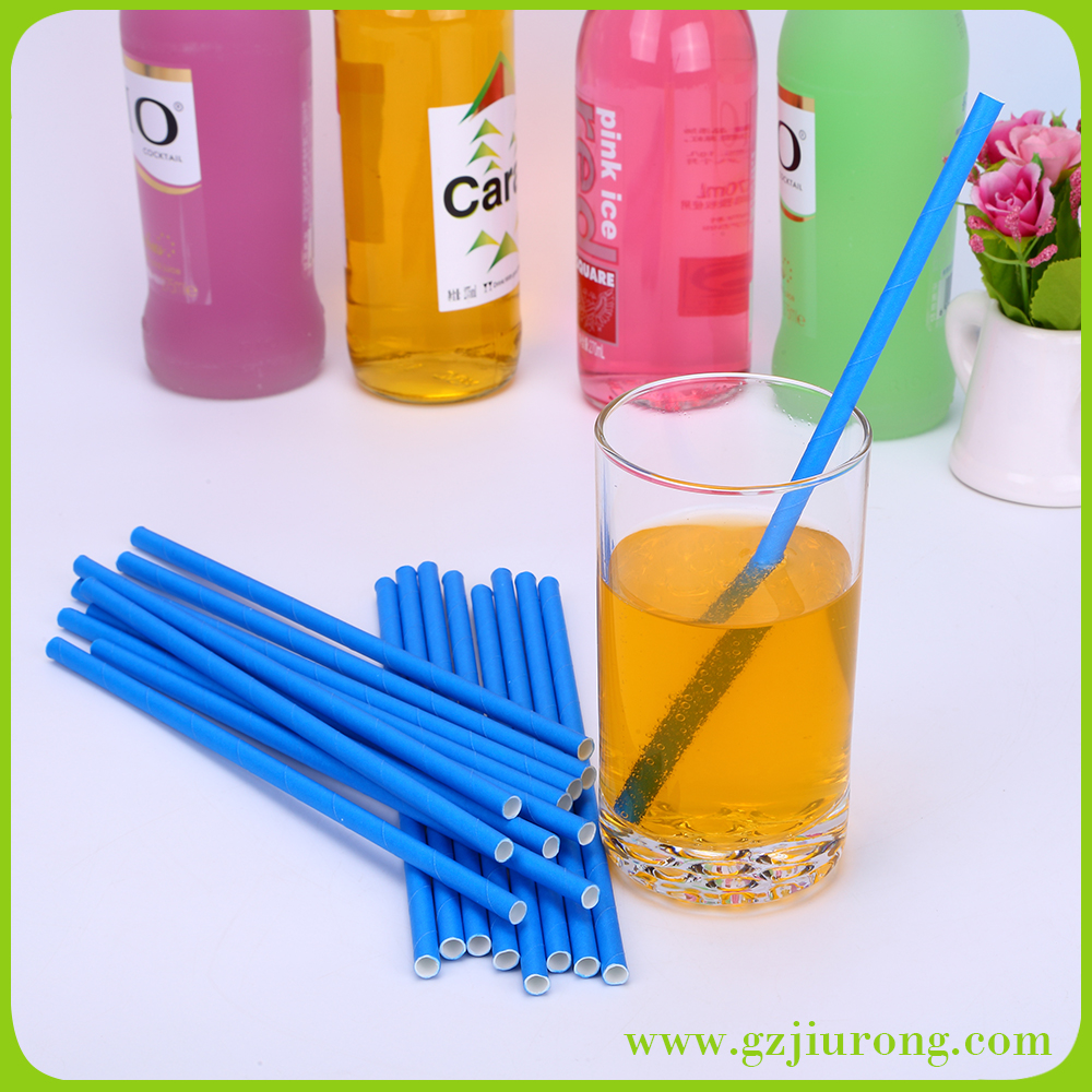 Kinds Of Pure Color Paper Party Drinking And Decoration Straws