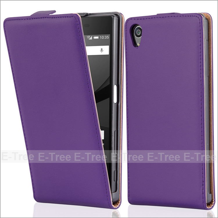 Classical Magnetic Flip Genuine Leather Case Cover For Sony Z5 Phone Case