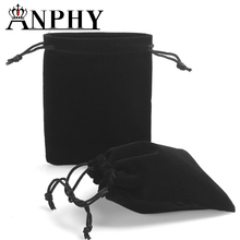 ANPHY B07-1 Fashion black velvet jewelry bag /velvet jewelry pouch 12*15cm