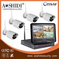 Hot selling 4CH Wireless Network IP Security Camera DVR kit 720P