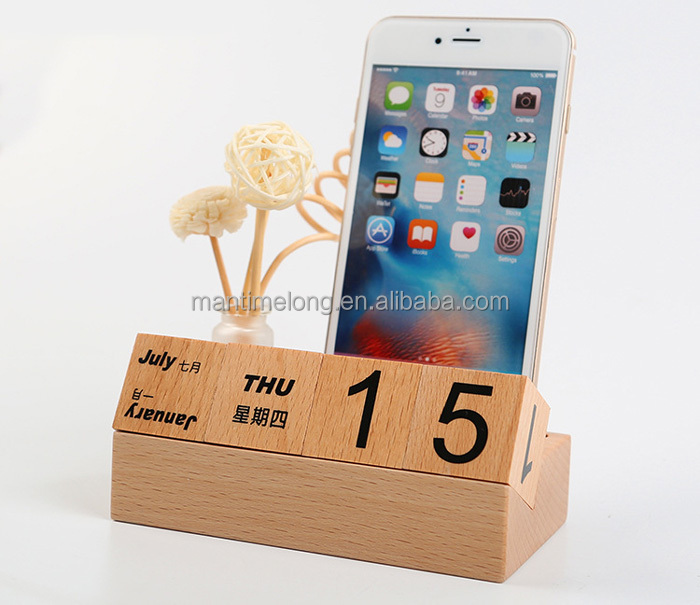 Fashion wooden Calendar Hot Selling Wood Carving Home Decoration Aromatherapy wood crafts ornaments base
