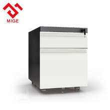 Office furniture steel movable filing under desk 2 drawer metal file cabinet