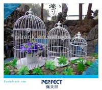240X450mm wire mesh decorative wooden bird cages wholesale antique PF-E590