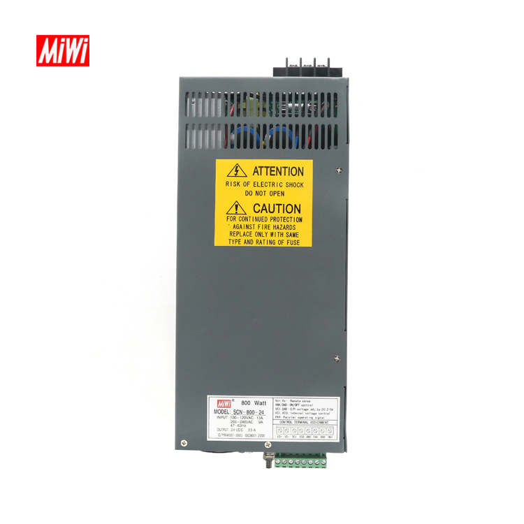 MiWi SCN-800-24 Electrical Products 33A 24V 800W Switching Power <strong>Supply</strong>