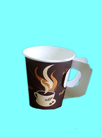 hot drink paper cup with handle
