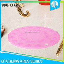 Bulk sale cheap new design pink round cup coaster