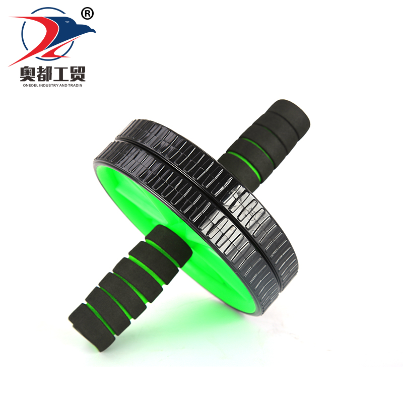 Factory direct provide double abdominal exercise rolling wheel workout Exercise roller with spring