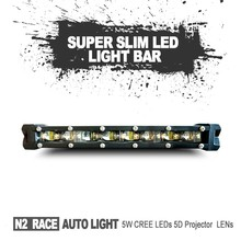 12 volt curved Utra slim single row 7inch 36W 108W LED off road spot light led 12V to 24V work light flood lamp truck car boat