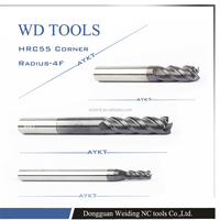 Radius Tungsten Carbide Cutting Tools/ CNC End Milling Cutters