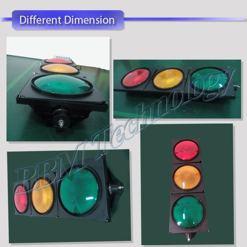 High flux traffic signal with 3 pcs led for safety