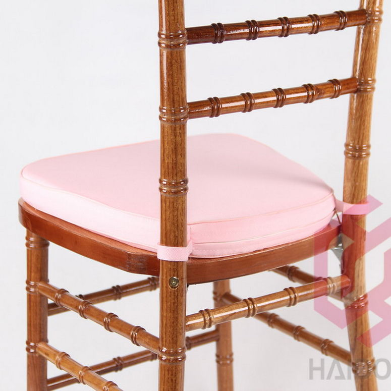 Pink Color Toregal Brand Soft Wooden Chiavari Chair Cushion