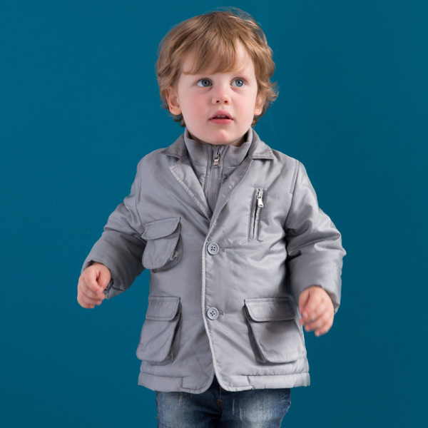 DB985 dave bella 2014 winter infant coat baby wadded jacket padded jacket outwear winter coat jacket boy winter coat