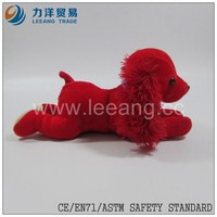 red long plush best selling soft stuffed plush dog toys different size,CE/ASTM safety stardard