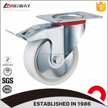 "heavy duty industrial type 5"""" PP caster wheel and swivel caster roller bearing truckle pp caster"