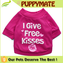 I Give Free Kisses Small Pet Dog Puppy Cotton T Shirt Summer Vest