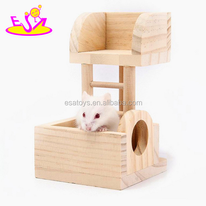 2017 New products indoor funny small animals creeping toy wooden pet ladder W06F027