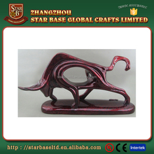 Top quality profession made resin bull decor custom made figurine for promotion