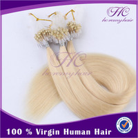 2016 New 613 Color Blonde Indian Weave Human Micro Ring Loop Hair Extensions 1G Gram
