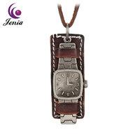 Jenia Newest Jewelry Vintage Watch Design Leather Zinc Alloy Leather Necklace