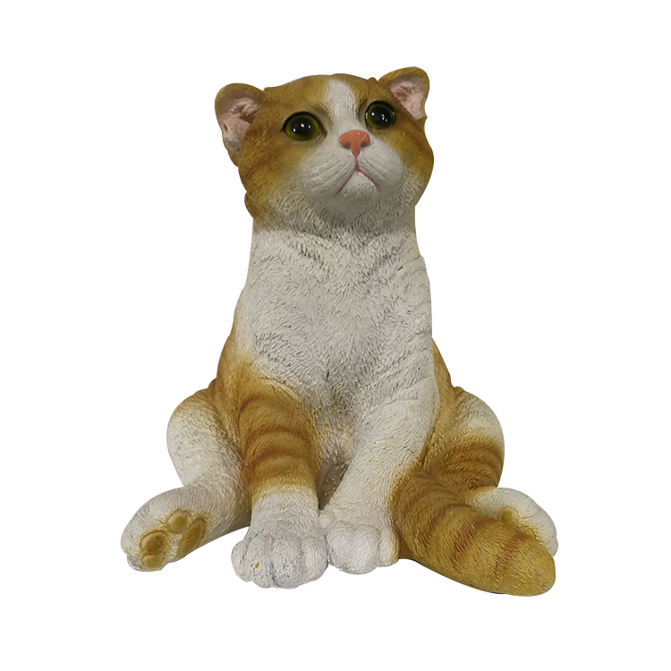 WG16033 Home and garden resin decoration artificial resin cat statue