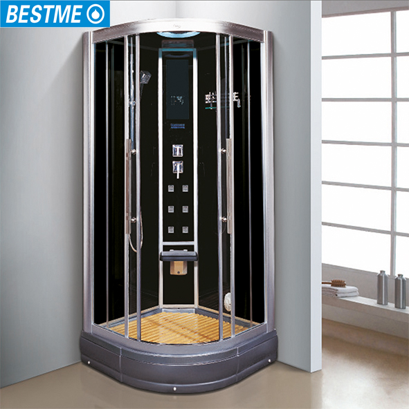 Tempered gass enclosed computer controlled sauna bath indoor steam shower room
