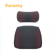Popular Travel Car Seat Lumbar Back Rest Support Cushion Neck Pillow