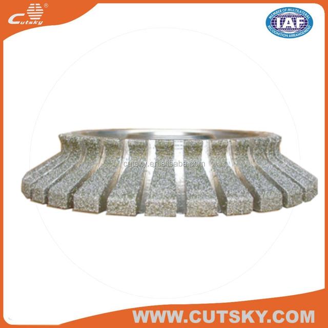 Premium diamond profile grinding wheels electroplate angle grinder diamond profile grinding wheels
