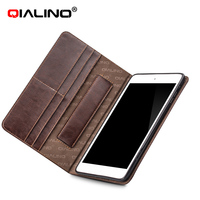 QIALINO 2016 newest genuine leather cover/pure handmade case for ipad