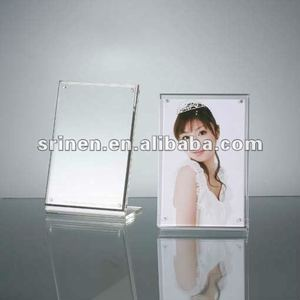 clear acrylic magnetic photo frame with support/lucite plexiglass picture frame/perspex desktop picture album DA-1020