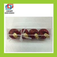 Christmas foam red apple shape hanging decoration