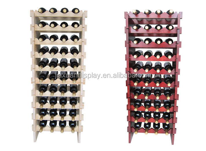 4 bottle wood/wooden stackable wine display shelf/rack/unit bar wine shelf floor stack stand