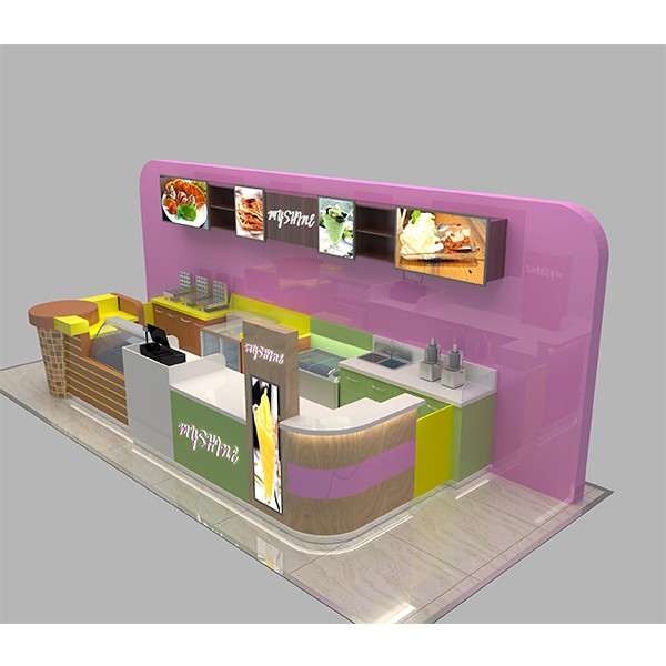 Newly supply indoor 3d mall ice cream kiosk design buy for Indoor food kiosk design