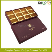 Stamping logo paper gift box with card paper divider