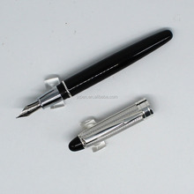 Promotional Premium business gift writing pen stationery Calligraphy Pens embossing silver metal fountain pen