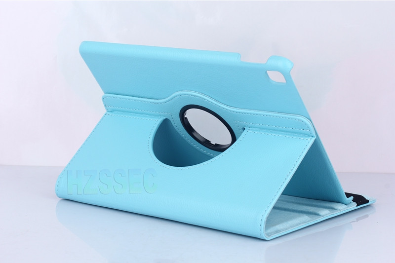 Popular Lichee Pattern protective 360 degree rotatable hard PU leather cover flip case stand tablet case for ipad air 3
